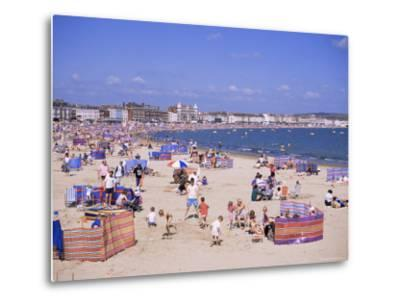 The Beach, Weymouth, Dorset, England, United Kingdom-J Lightfoot-Metal Print