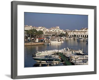 Marina, Cala En'Bosch, Menorca, Balearic Islands, Spain, Mediterranean-J Lightfoot-Framed Photographic Print