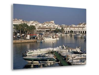 Marina, Cala En'Bosch, Menorca, Balearic Islands, Spain, Mediterranean-J Lightfoot-Metal Print