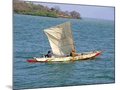 Canoe with Sail, River Gambia, the Gambia, West Africa, Africa-J Lightfoot-Mounted Photographic Print