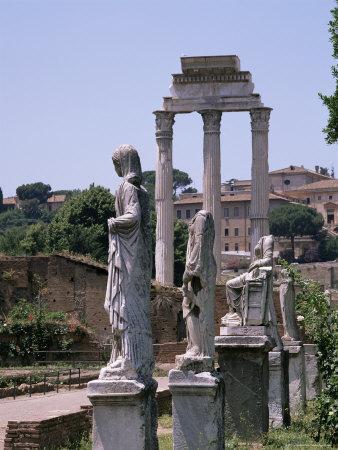 The Forum, Unesco World Heritage Site, Rome, Lazio, Italy-Roy Rainford-Premium Photographic Print