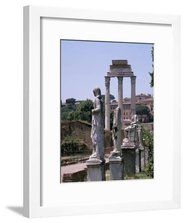 The Forum, Unesco World Heritage Site, Rome, Lazio, Italy-Roy Rainford-Framed Premium Photographic Print
