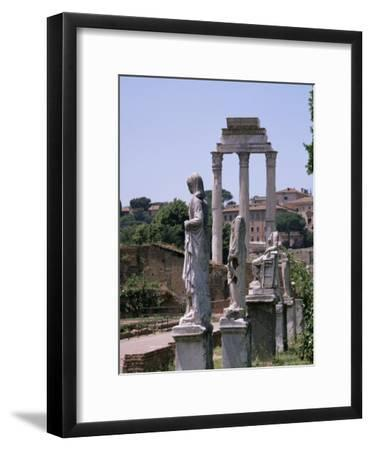 The Forum, Unesco World Heritage Site, Rome, Lazio, Italy-Roy Rainford-Framed Premium Photographic Print