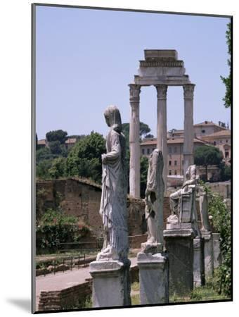 The Forum, Unesco World Heritage Site, Rome, Lazio, Italy-Roy Rainford-Mounted Premium Photographic Print