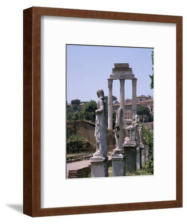 The Forum, Unesco World Heritage Site, Rome, Lazio, Italy-Roy Rainford-Framed Photographic Print