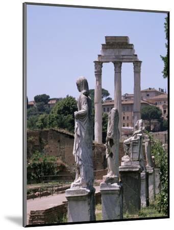 The Forum, Unesco World Heritage Site, Rome, Lazio, Italy-Roy Rainford-Mounted Photographic Print