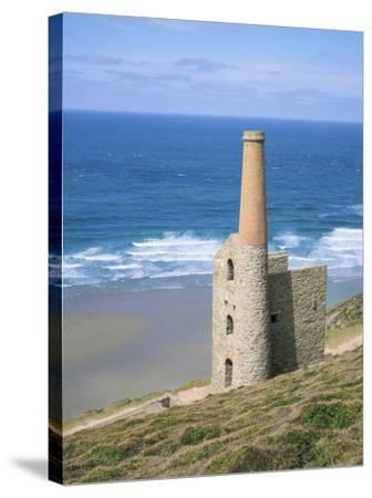 Wheal Coates Mine, St. Agnes, Cornwall, England, United Kingdom-Roy Rainford-Stretched Canvas Print