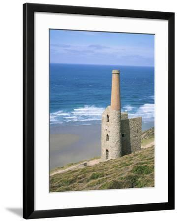 Wheal Coates Mine, St. Agnes, Cornwall, England, United Kingdom-Roy Rainford-Framed Photographic Print
