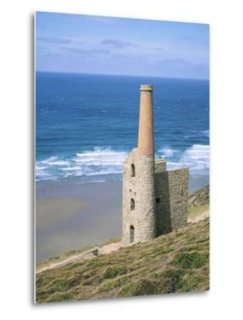 Wheal Coates Mine, St. Agnes, Cornwall, England, United Kingdom-Roy Rainford-Metal Print