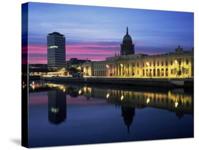 The Custom House, Dublin, Co. Dublin, Eire (Republic of Ireland)-Roy Rainford-Stretched Canvas Print