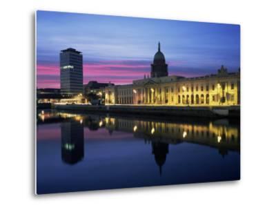 The Custom House, Dublin, Co. Dublin, Eire (Republic of Ireland)-Roy Rainford-Metal Print