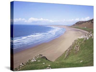 Rhossili Bay, Gower Peninsula, Wales, United Kingdom-Roy Rainford-Stretched Canvas Print