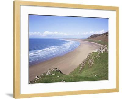 Rhossili Bay, Gower Peninsula, Wales, United Kingdom-Roy Rainford-Framed Photographic Print