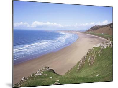 Rhossili Bay, Gower Peninsula, Wales, United Kingdom-Roy Rainford-Mounted Photographic Print