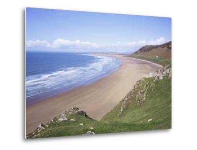 Rhossili Bay, Gower Peninsula, Wales, United Kingdom-Roy Rainford-Metal Print
