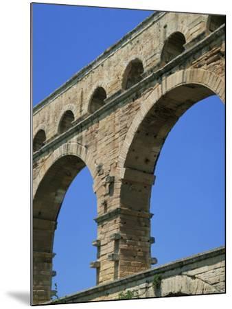 Pont Du Gard, Unesco World Heritage Site, Languedoc-Roussillon, France-Roy Rainford-Mounted Photographic Print