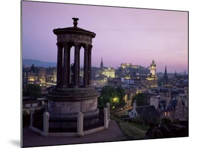 Stewart Monument and Princes Street, Edinburgh, Lothian, Scotland, United Kingdom-Roy Rainford-Mounted Photographic Print