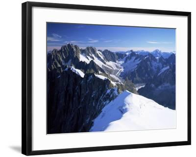 Mont Blanc Range Near Chamonix, Haute-Savoie, French Alps, France-Roy Rainford-Framed Photographic Print