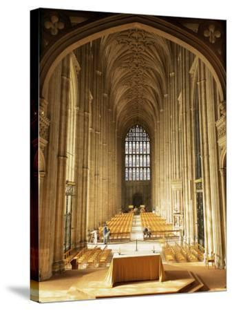 Interior, Canterbury Cathedral, Unesco World Heritage Site, Kent, England, United Kingdom-Roy Rainford-Stretched Canvas Print