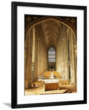 Interior, Canterbury Cathedral, Unesco World Heritage Site, Kent, England, United Kingdom-Roy Rainford-Framed Photographic Print