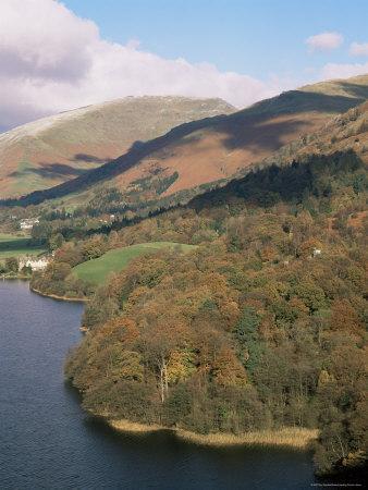 Grasmere in Autumn, Lake District National Park, Cumbria, England, United Kingdom-Roy Rainford-Framed Photographic Print