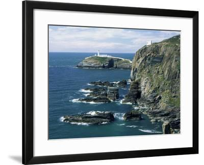 South Stack Lighthouse, Isle of Anglesey, Wales, United Kingdom-Roy Rainford-Framed Photographic Print