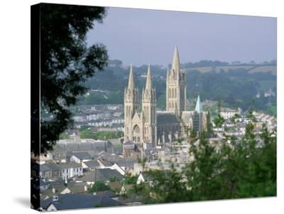 Truro Cathedral and City, Cornwall, England, United Kingdom-John Miller-Stretched Canvas Print