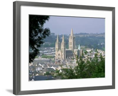 Truro Cathedral and City, Cornwall, England, United Kingdom-John Miller-Framed Photographic Print