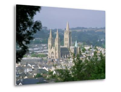 Truro Cathedral and City, Cornwall, England, United Kingdom-John Miller-Metal Print