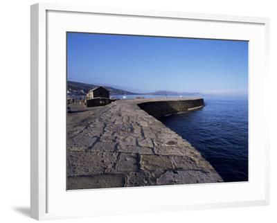 The Cobb, Lyme Regis, Dorset, England, United Kingdom-John Miller-Framed Photographic Print