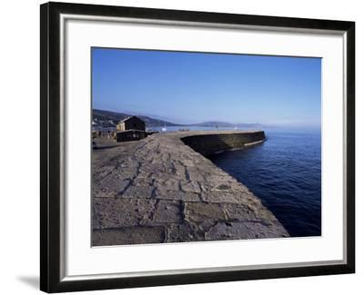 The Cobb, Lyme Regis, Dorset, England, United Kingdom-John Miller-Framed Photographic Print