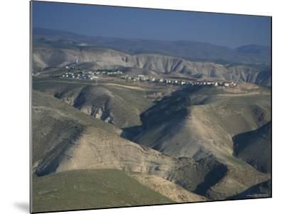 View in Winter with Typical Hills in Foreground and Alon Settlement Beyond, Judean Desert, Israel-Eitan Simanor-Mounted Photographic Print
