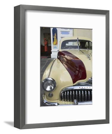 Old Buick Car in Front of Entrance to the City Palace Hotel, Old City, Udaipur, India-Eitan Simanor-Framed Photographic Print