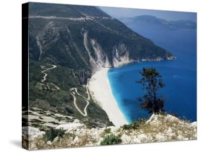 Myrtos Bay and Beach, Kefalonia, Ionian Islands, Greek Islands, Greece-Michael Short-Stretched Canvas Print