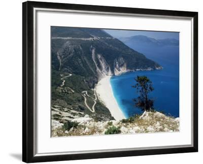 Myrtos Bay and Beach, Kefalonia, Ionian Islands, Greek Islands, Greece-Michael Short-Framed Photographic Print
