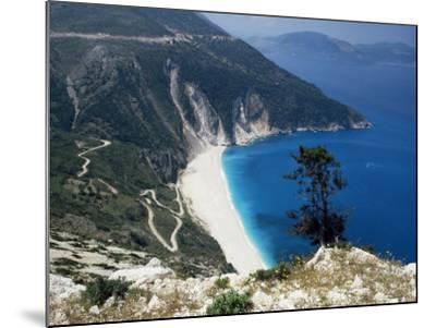 Myrtos Bay and Beach, Kefalonia, Ionian Islands, Greek Islands, Greece-Michael Short-Mounted Photographic Print