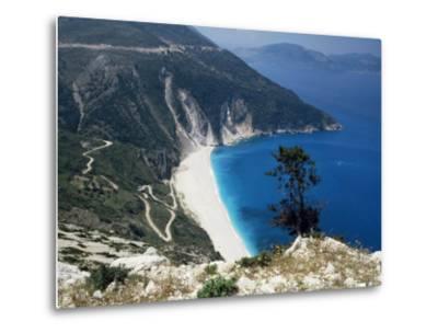 Myrtos Bay and Beach, Kefalonia, Ionian Islands, Greek Islands, Greece-Michael Short-Metal Print