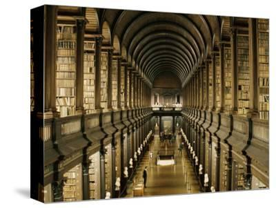Interior of the Library, Trinity College, Dublin, Eire (Republic of Ireland)-Michael Short-Stretched Canvas Print