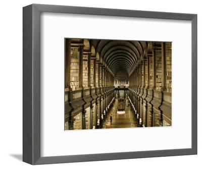 Interior of the Library, Trinity College, Dublin, Eire (Republic of Ireland)-Michael Short-Framed Photographic Print