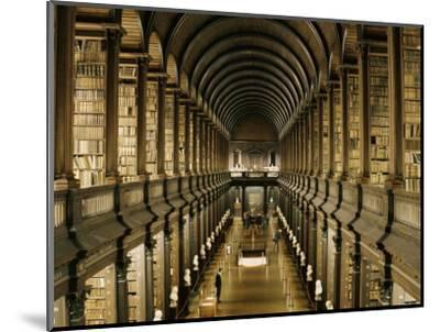Interior of the Library, Trinity College, Dublin, Eire (Republic of Ireland)-Michael Short-Mounted Photographic Print