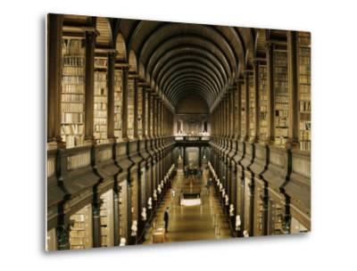 Interior of the Library, Trinity College, Dublin, Eire (Republic of Ireland)-Michael Short-Metal Print