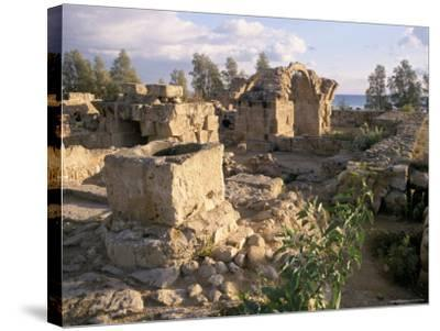 Byzantine Castle Dating from 7th Century, Ruined by Earthquake in 1222, Paphos, Cyprus-Michael Short-Stretched Canvas Print