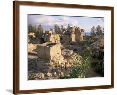 Byzantine Castle Dating from 7th Century, Ruined by Earthquake in 1222, Paphos, Cyprus-Michael Short-Framed Photographic Print