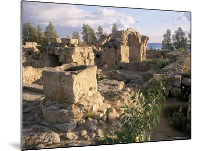 Byzantine Castle Dating from 7th Century, Ruined by Earthquake in 1222, Paphos, Cyprus-Michael Short-Mounted Photographic Print