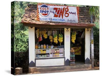 Village Shop, Hindu Ponda, Goa, India-Michael Short-Stretched Canvas Print