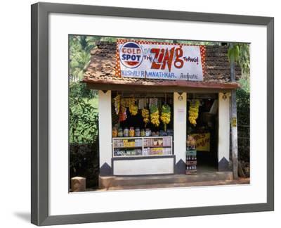 Village Shop, Hindu Ponda, Goa, India-Michael Short-Framed Photographic Print