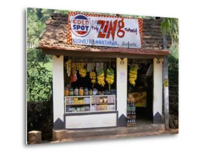 Village Shop, Hindu Ponda, Goa, India-Michael Short-Metal Print