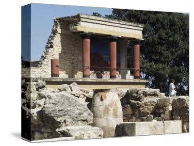 Reconstructed Palace of King Minos, Knossos, Crete, Greece-Michael Short-Stretched Canvas Print