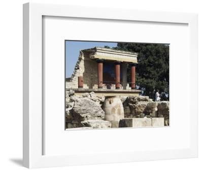 Reconstructed Palace of King Minos, Knossos, Crete, Greece-Michael Short-Framed Photographic Print