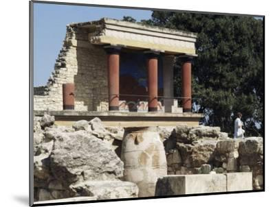 Reconstructed Palace of King Minos, Knossos, Crete, Greece-Michael Short-Mounted Photographic Print